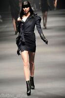 ICONIC CHIC ELEGANT CLASSY 2009 LANVIN Black wool/cashmere blend Dress