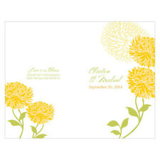 Zinnia Bloom Personalized Wedding Programs 24/pk