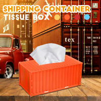 Tissue Napkin Box Shipping Container Paper Cover Storage Holder Home Car   -)