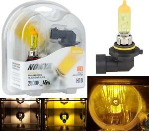 Nokya 2500K Yellow H10 9145 Nok7626 45W Two Bulbs Fog Light Replace Plug Play OE