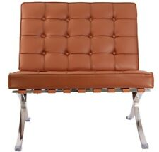 Modern Harter BARCELONA CHAIR Tan Brown LEATHER (Chair only)