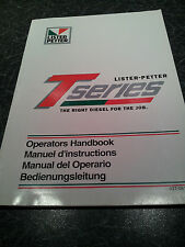 Lister-Petter T Seies Operators hand book part no 027-08185