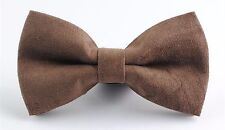 NEW MENS Adult Man Party Suede Cocktail Formal Wedding bow tie Necktie bowtie