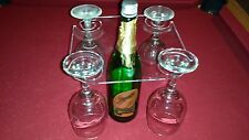 WINE GLASS CADDY - made from strong clear ACRYLIC - 2 or 4 Glass options - NEW!
