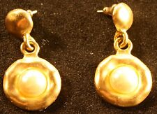 Golden medium Costume earings with pearl