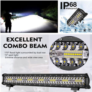 1x  LED Light Bar Fog Light Work Light IP68 Waterproof for Off-road,SUV,Pick up