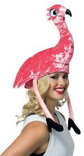 Rasta Imposta Flamingo Pink Bird Hat Adult Halloween Costume Accessory GC1526