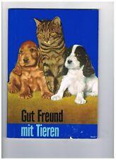 Sammelalbum  Gut Freund mit Tieren