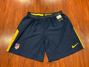 2017-18 Nike Mens Atletico Madrid Away Player Issue Soccer Jersey Shorts XXL 2XL