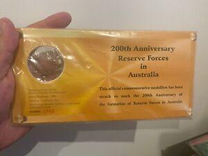 200th ANNIVERSARY RESERVE FORCES IN AUSTRALIA COMMEMORATIVE MEDALLION