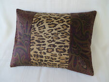 1 ONE RALPH LAUREN BOHEMIAN PAISLEY/Leopard TOSS PILLOW Sham New