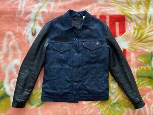 Levis x Stussy x Neighborhood Selvedge Denim Leather Jacket Size Medium supreme
