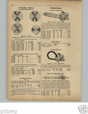 1951 PAPER AD Disston 9 HP 2 Two Man Chain Saw Bow Saw
