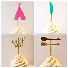 Wild One Birthday, Wild One Cupcake Toppers, Wild One Toppers, Boho Cupcake 12ct