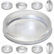 8 X Large Clear Castor Cups Carpet/floor Chair/sofa Furniture Protectors Caster