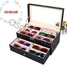 12 pcs Sunglasses Glasses Eyewear Storage Display Case Box w/ window US Premium