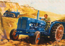 Fordson Vintage Tractor & Crawler - Poster (A3)