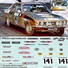 Opel Manta A SR Rallye Monte Carlo 1976 #141 J. Bindner 1:43 Decal Abziehbild
