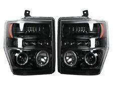 RECON Smoked Projector Headlights 264196BK 2008-2010 Ford F250 F350 F450 F550