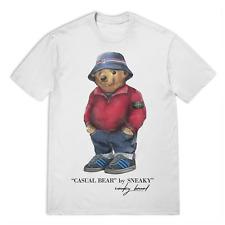 Sneaky Casual Bear Fila Stone Island T-Shirt - White T-Shirt Size S-5XL