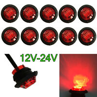 """BRIGHT 3/4"""" Red LED CLEARANCE SPOT MARKER LIGHT FOR TRUCK TRAILER RV Boat Camper"""