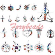 Unisex Modeschmuck-Halsketten & -Anhänger aus Metall-Legierung Chakra