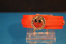 OWL NOOSA CHARM BRACELET Leather New! Jewelry USA SELLER chunk drill snap button