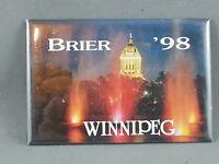 Vintage Canadian Curling Pin - Brier 1998 Winnipeg - Paper Pin