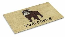 """Vinyl Backed Bull Dog Printed Coco Doormat 0.5"""" Thick - 18 by 30-Inch"""