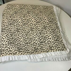 The company store quilt bedspread coverlet cheetah print ruffled edge full
