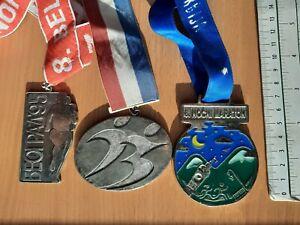 BELGRADE SERBIA 1995 2000 2017 Night Marathon race run running sport medal lot