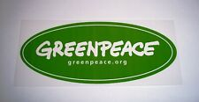 GREENPEACE  Sticker / Decal ~ Green Oval Sticker ~ Environment / Planet Earth