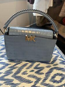 Michael Kors Karlie croc embossed bag