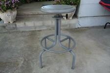 Vintage Industrial metal counter bar shop home Drafting Stool swivel Mcm. Nice