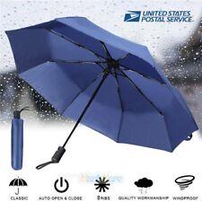 50+ Anti-UV Sun Rain Protection Windproof 3 Folding Umbrella Auto Open Close New