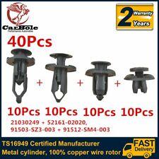 40Pcs Plastic Rivet Fastener Mud Flaps Bumper Fender Push Clips 7.5-8-9-10mm