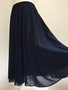 GINA BACCONI Navy Blue JOHN LEWIS Skirt Size UK 22 FREE P&P