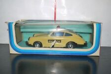 VINTAGE PLASTIC WIND UP PORSCHE POLICE CAR GREEK BASILIADES KIBI 1431 BOXED