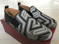 550$ Bally Herald T 109 Leather and Nylon Slip on Shoes size US 13