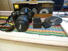 Nikon D40 6.1MP Digital SLR Camera - Black (Kit w/ AF-S DX 18-55mm Lens)