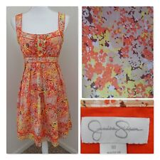 Summer Sun DRESS~Jessica Simpson~Tangerine/Yellow Empire Babydoll Size 10