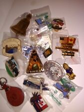 Lot of Lions Pins Vintage Leather Keychain US and International 17 Total NY