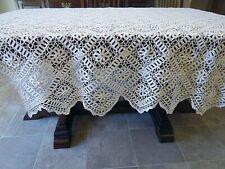 Vintage Crocheted Tablecloth - Pinwheel - 87 X 76