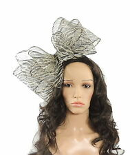 Black/Cream Fascinator for Ascot, Weddings, Proms, Derby C12