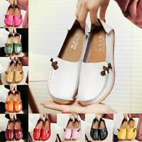 Womens Real Leather Casual Slip On shoes Moccasins Comfort Driving Flats Loafers
