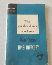 1949 Mercury Factory Original Owners Manual