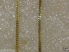 9 ct  YELLOW  GOLD  new  curb  chain  18 inch