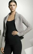 $295 Vince Cashmere Cardigan Sweater Cable Knit Shrug Grey Size Medium M Chunky