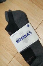 Bombas Men's Ankle Socks Black/Gray Honeycomb Large 7-12 NWT bumbas