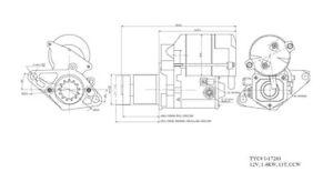 Starter Motor TYC 1-17263